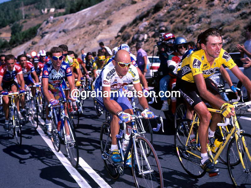 MARCO PANTANI AND JOHAN BRUYNEEL IN THE 1996 TOUR OF SPAIN