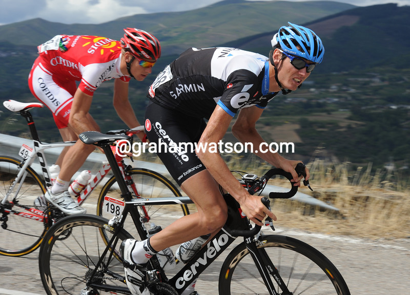 JOHAN VAN SUMMEREN ATTACKS ON STAGE ELEVEN OF THE 2011 TOUR OF SPAIN