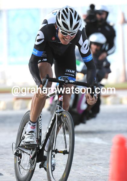 JOHAN VAN SUMMEREN IN THE PROLOGUE OF THE 2011 TOUR OF QATAR