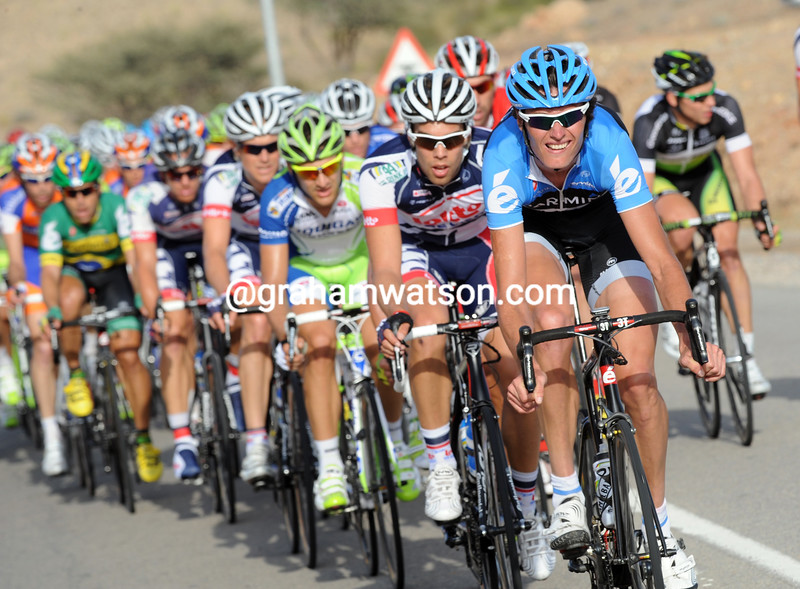 Johan Van Summeren chases on stage two of the 2012 Tour of Oman