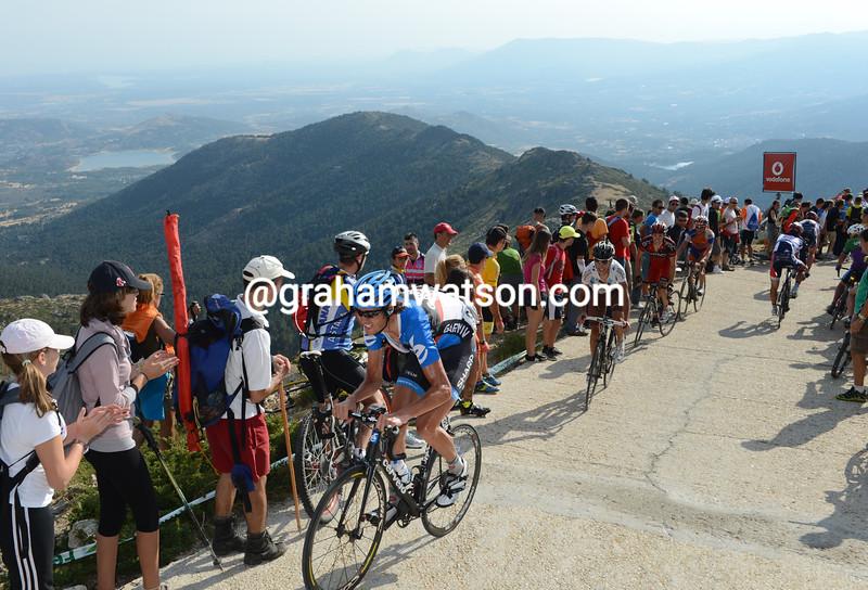 Johan Van Summeren on to the Bola del Mundo in the 2012 Vuelta a España