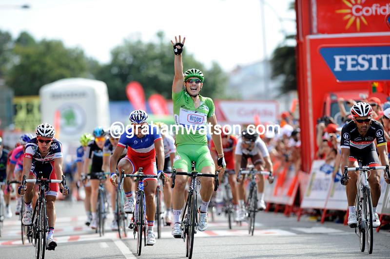 John Degenkolb wins a stage of the 2012 Vuelta a España
