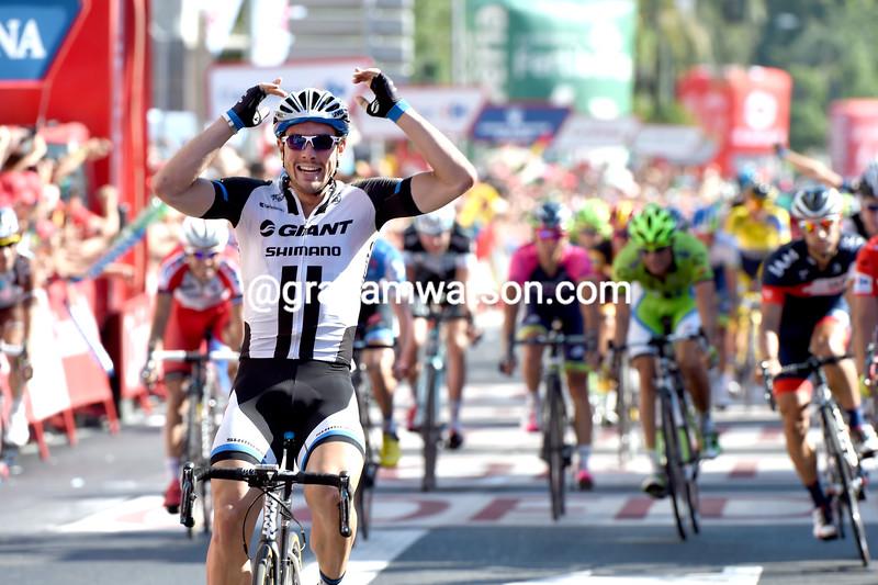 John Degenkolb wins a stage of the 2014 Vuelta a España
