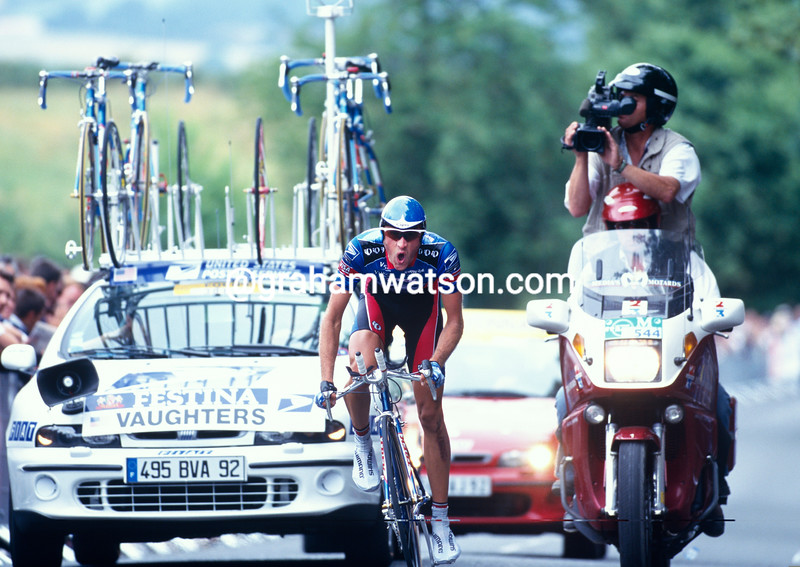 Jonathan Vaughters in the 1999 Tour de France