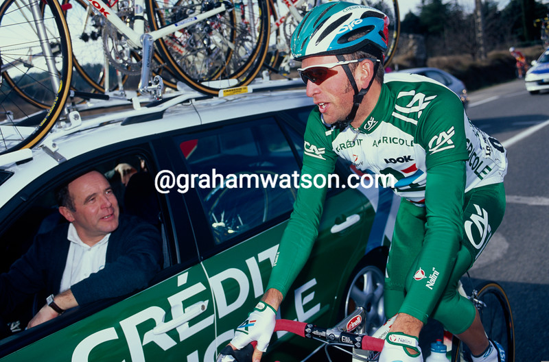 Jonathan Vaughters with Roger Lejeay in 2001