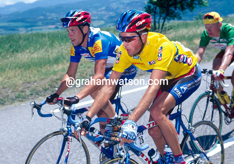 Jonathan Vaughters with Lance Armstrong in the 1999 Dauphiné-Libéré