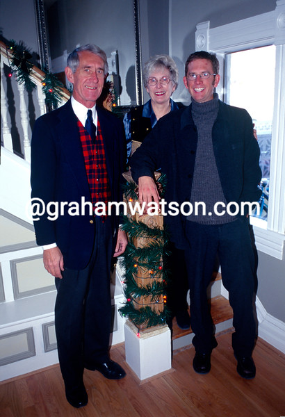 Jonathan Vaughters at home in 1998 with his parents