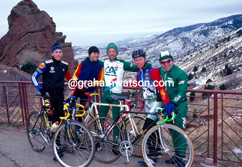 Jonathan Vaughters in Colorado in 1998 with his training friends