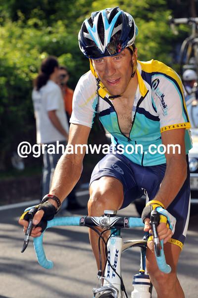 JOSE LUIS RUBIERA ON STAGE NINETEEN OF THE 2009 GIRO D'ITALIA