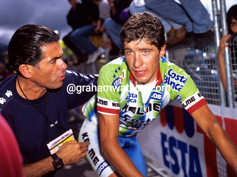 JOSE LUIS RUBIERA AFTER A STAGE OF THE 1997 TOUR OF ITALY