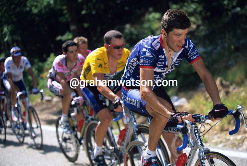 Jose-Luis Rubiera in the 2002 Tour de France