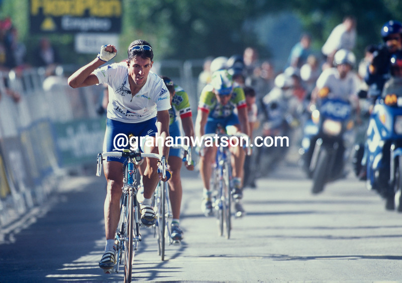 Jose-Maria Jimenez wins a stage of the 1999 Vuelta a Espana