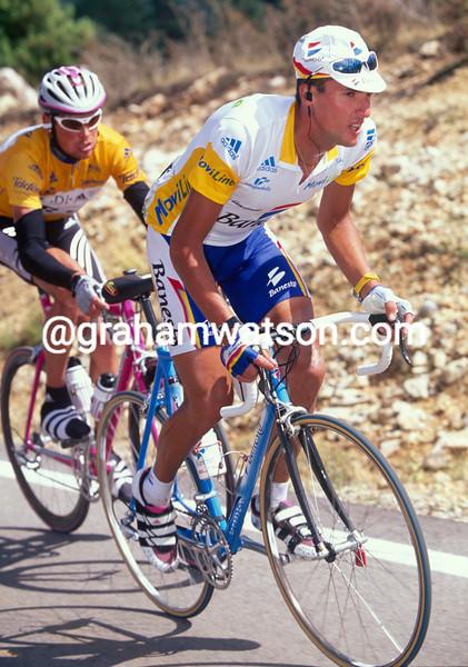 Jose-Maria Jimenez on a stage of the 1999 Vuelta a Espana