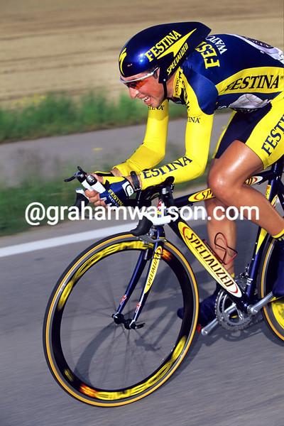 Joseba Beloki in the 2000 Tour de Romandie