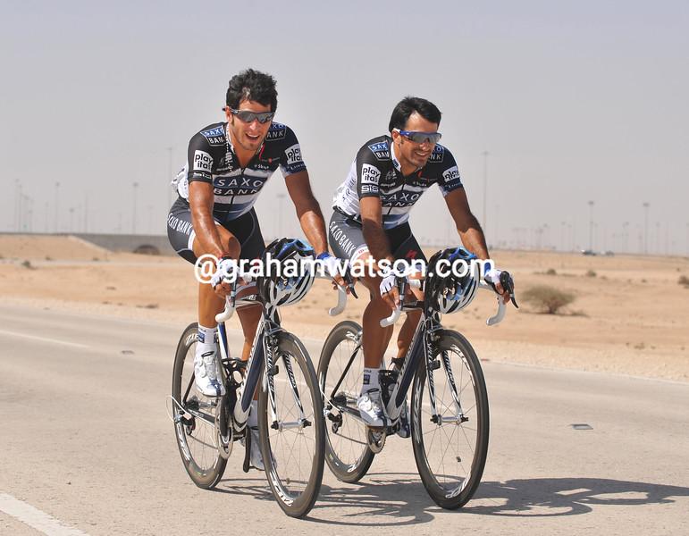 LUCAS AND JOSE HAEDO IN THE 2010 TOUR OF QATAR