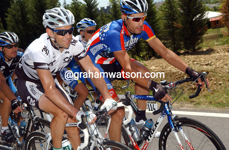 JULIAN DEAN AND GEORGE HINCAPIE ON STAGE SEVEN OF THE 2007 GIRO D'ITALIA