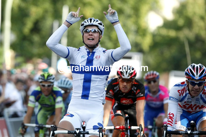 JUSSI VAIKKENEN WINS STAGE SIX OF THE 2008 TOUR OF GERMANY