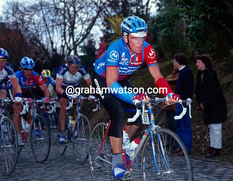 Kai Hundertmarck in the 1994 Tour of Flanders