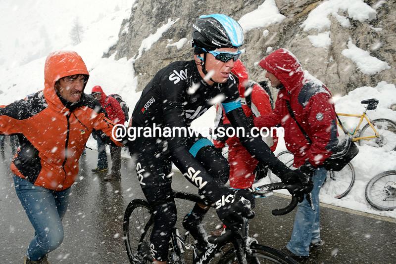 Kanstantsin Siutsou on stage twenty at the 2013 Giro d'Italia