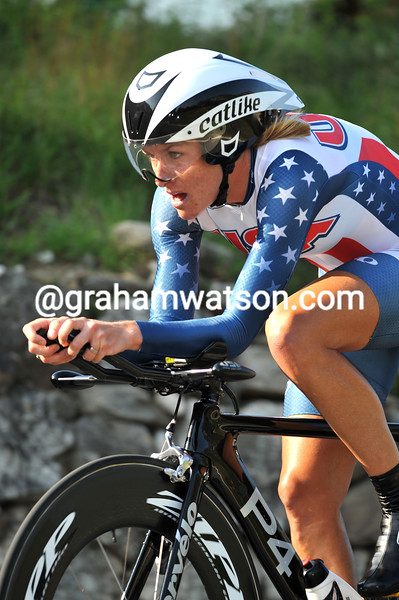 KRISTIN ARMSTRONG IN THE 2009 WORLD TIME TRIAL CHAMPIONSHIPS