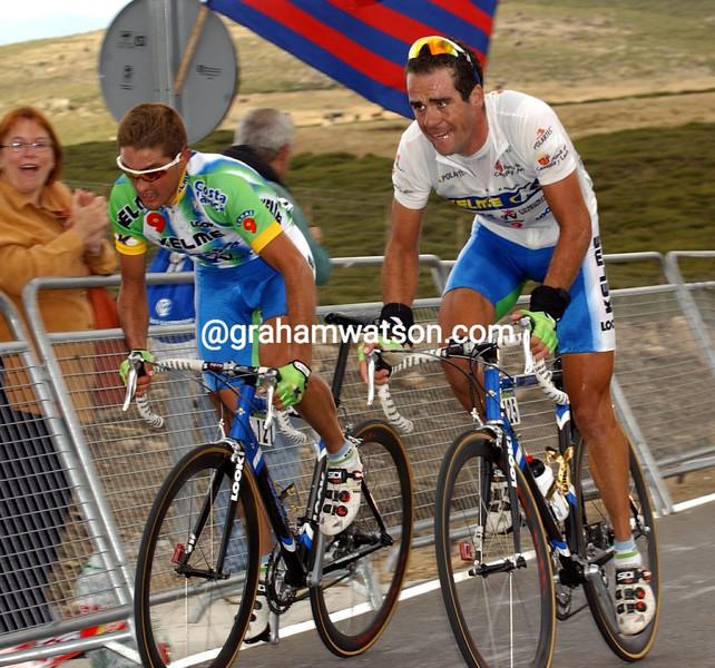 Aitor Gonzalez and Oscar Sevilla in the 2002 Vuelta a España