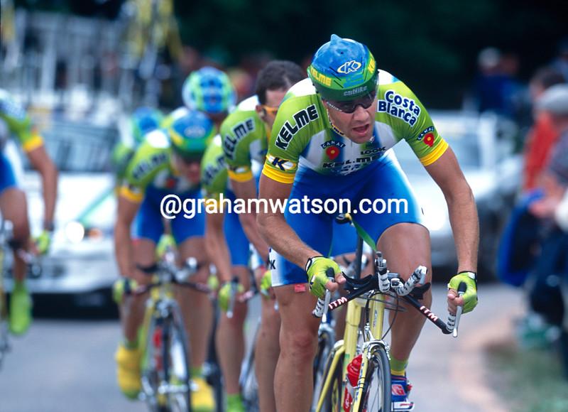 Jose-Enrique Gutierrez in the 2000 Tour de France