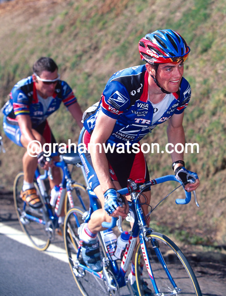 Kevin Livingston and Lance Armstrong in the 1999 Ruta del Sol