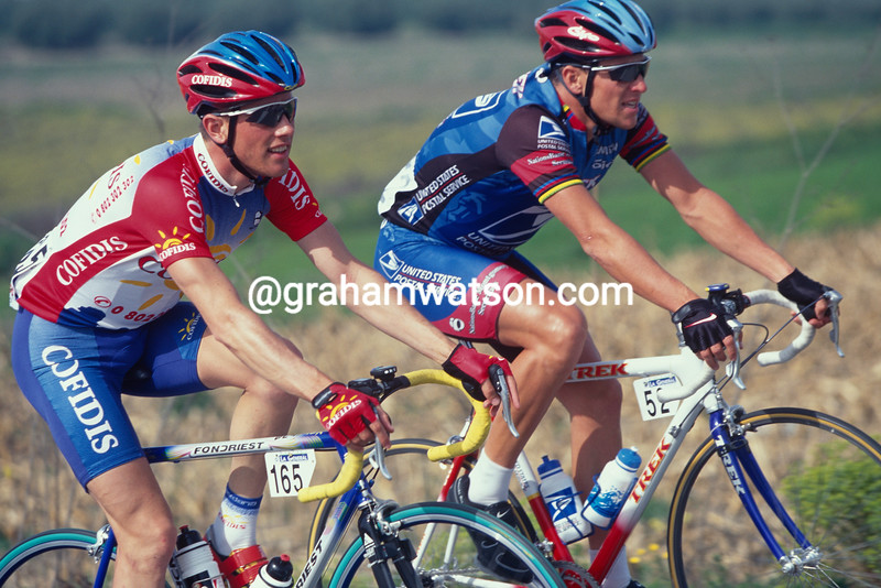 Kevin Livingston and Lance Armstrong in the 1998 Ruta del Sol