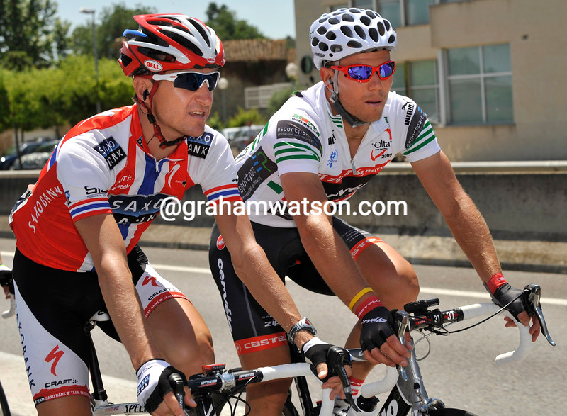 KURT ATLE ARVESEN AND THOR HUSHOVD IN THE 2009 TOUR OF CATALONIA