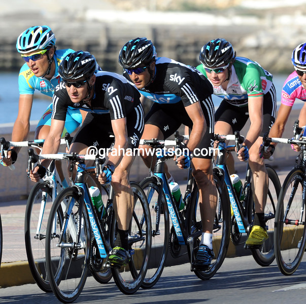 TEAM SKY ON STAGE SIX OF THE 2011 TOUR OF OMAN
