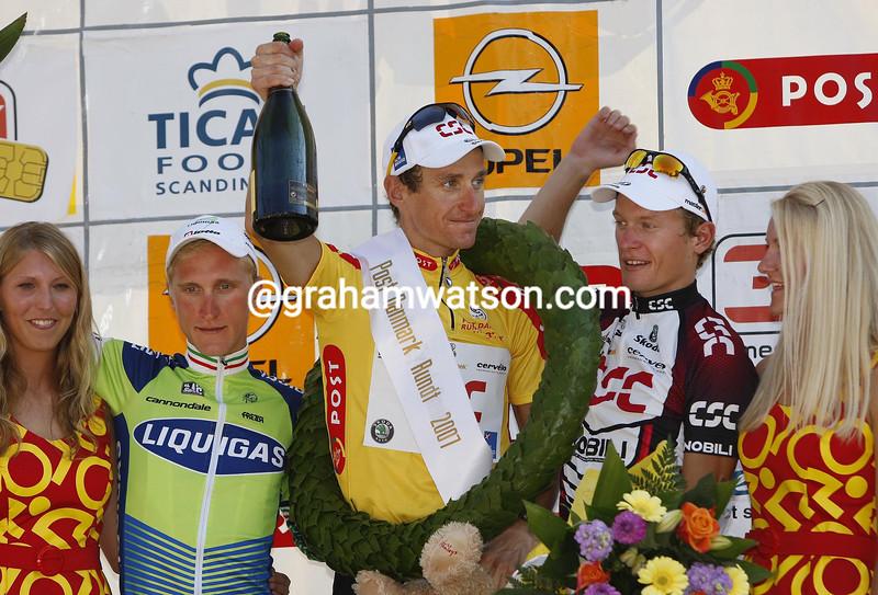 Kurt Asle Arvesen, Enrico Gasparotto and Matti Breschel in the 2004 Tour of Denmark