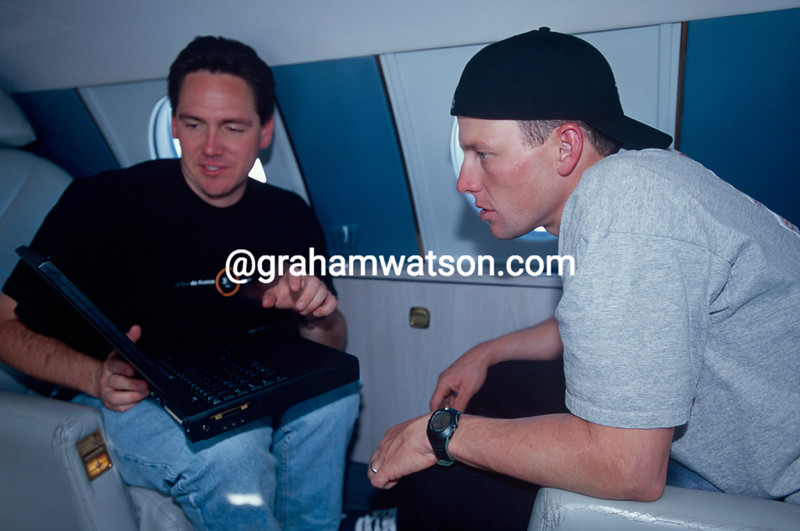 Lance Armstrong with Bill Stapleton on a private trip in 2000