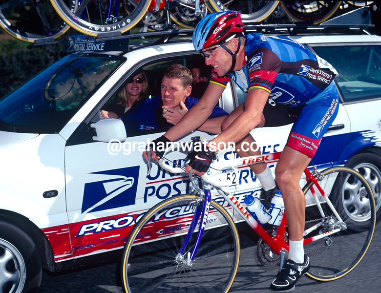 Lance Armstrong and Jonny Weltz in the 1998 Ruta del Sol