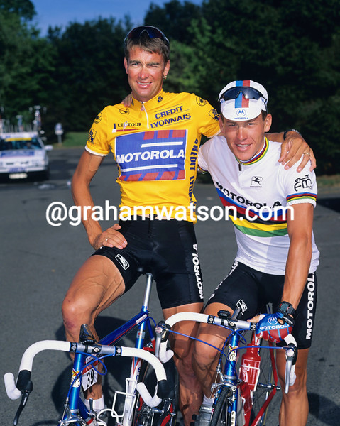 LANCE ARMSTRONG AND SEAN YATES IN THE 1994 TOUR DE FRANCE
