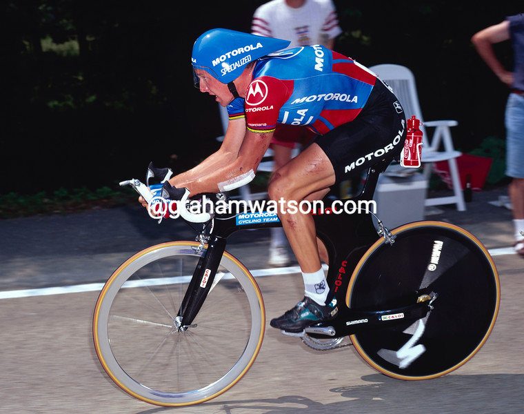 Lance Armstrong in the 1995 Tour de France