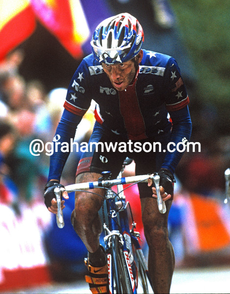 Lance Armstrong in the 1998 World Championships