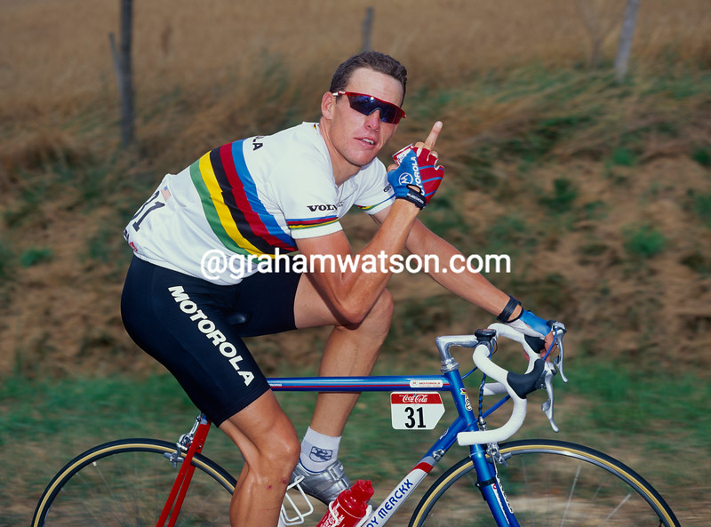 Lance Armstrong in the 1994 Tour de France