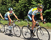 LANCE ARMSTRONG and ALBERTO CONTADOR ON STAGE FIFTEEN OF THE 2009 TOUR DE FRANCE