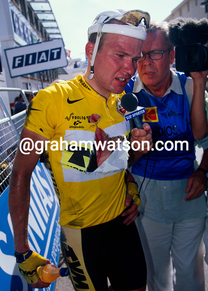 Lars Michaelsen with Jorgen Leth in the 1997 Tour of Spain