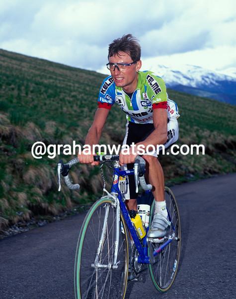 Laudelino Cubino in the 1992 Giro d'Italia