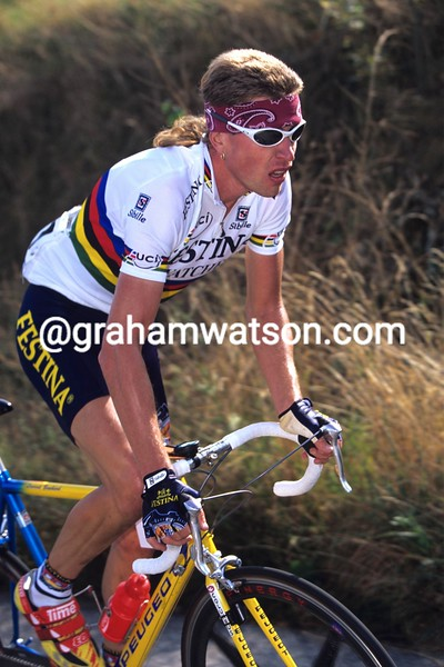 Laurent Brochard in the 1997 Giro Lombardia