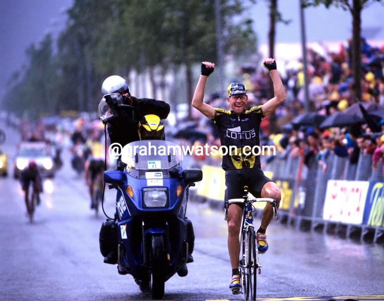 Laurent Brochard in the 1999 Tour of Spain