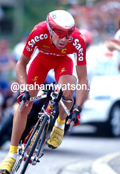 Laurent Dufaux in the 2000 Tour de Romandie