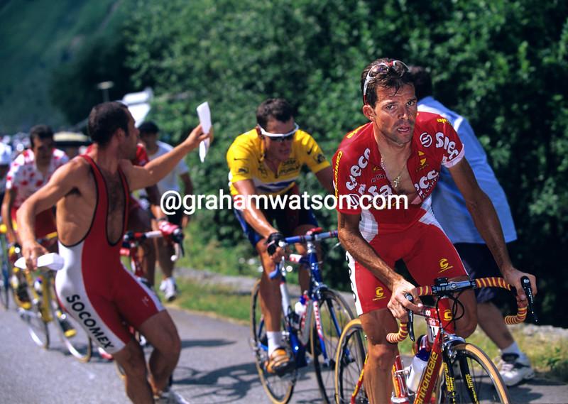 Laurent Dufaux on a stage of the 1999 Tour de France