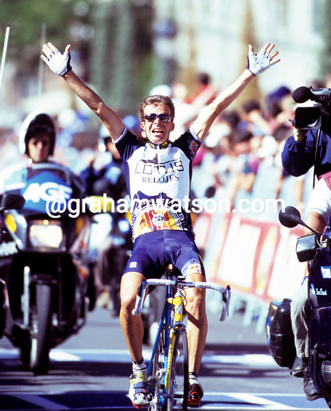 Laurent Dufaux on a stage of the 1996 Tour of Spain