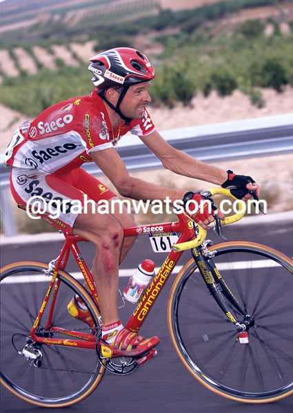 Laurent Dufaux on a stage of the 1999 Tour of Spain