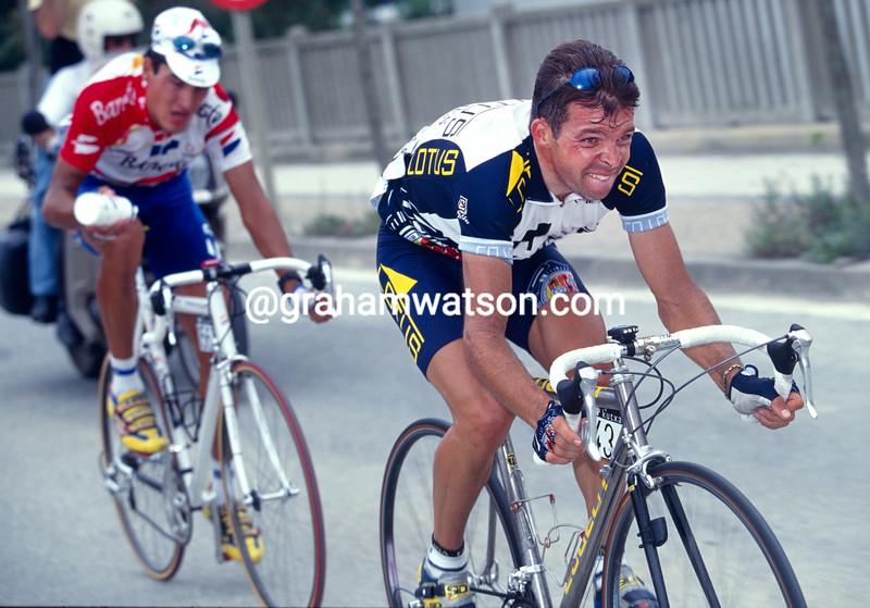 Laurent Dufaux in the 1998 Clasica San Sebastian