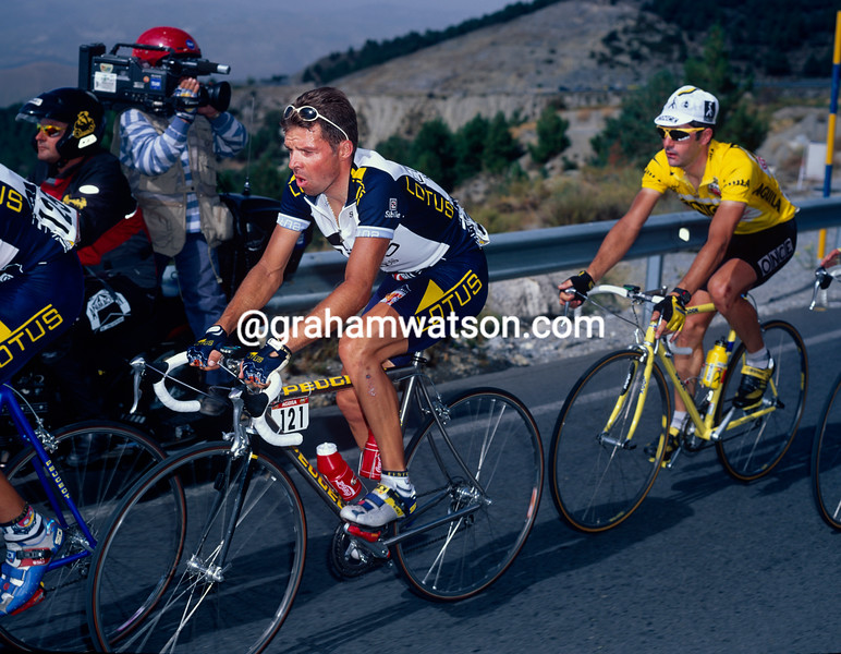 Laurent Dufaux in the 1997 Tour of Spain
