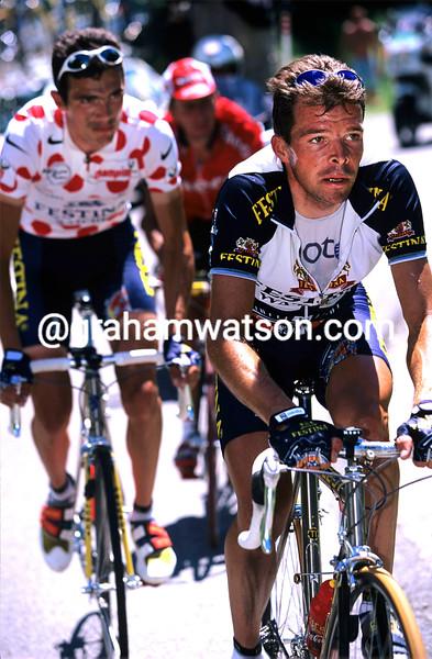Laurent Dufaux on a stage of the 1996 Tour de France