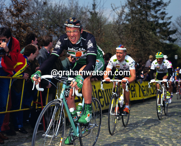 Laurent Fignon in the 1992 Tour of Flanders